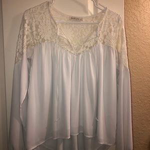 WORN ONCE white blouse long sleeve